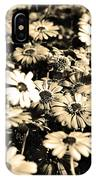 Flowers In Sepia Tone IPhone Case