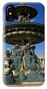Fountain At Place De La Concorde. Paris. France IPhone Case
