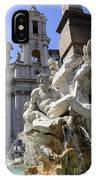 Fountain. Piazza Navona. Rome IPhone Case