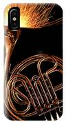 French Horn With Sparks IPhone Case