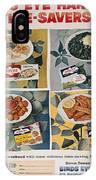 Frozen Food Ad, 1957 IPhone Case
