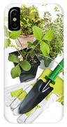 Gardening Tools And Plants IPhone Case