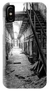 Grim Cell Block In Philadelphia Eastern State Penitentiary IPhone Case