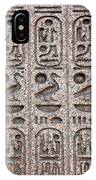 Hieroglyphs On Ancient Carving IPhone Case