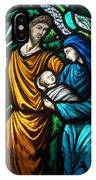 Holy Family Stained Glass IPhone Case