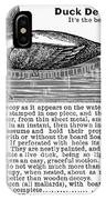 Hunting: Duck Decoy, 1895 IPhone Case