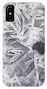 Ice Patterns On Pond, Alberta Canada IPhone Case