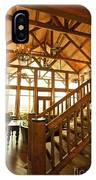 Interior Of Large Wooden Lodge IPhone Case