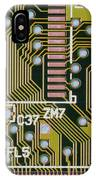Macrophotograph Of A Circuit Board IPhone Case
