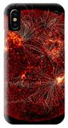 Magnetic Field Lines On The Sun IPhone Case