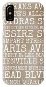New Orleans Streets IPhone Case