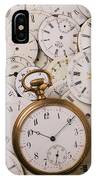 Old Pocket Watch On Dail Faces IPhone Case
