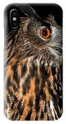 Side Portrait Of An Eagle Owl IPhone Case