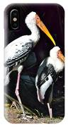 Painted Storks IPhone Case