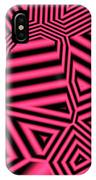 Pink And Black Abstract IPhone Case