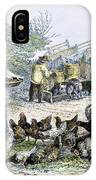 Poultry Yard, 1847 IPhone Case