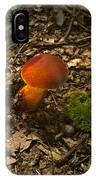 Red Caped Mushroom 3 IPhone Case