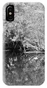 Reflections On The North Fork River In Black And White IPhone Case