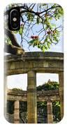 Rotunda Of Illustrious Jalisciences And Guadalajara Cathedral IPhone Case