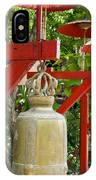 Row Of Bells In A Temple Covered By Red Umbrella IPhone Case