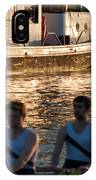 Rowers At Sunset IPhone Case