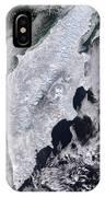Satellite View Of Kamchatka Peninsula IPhone Case
