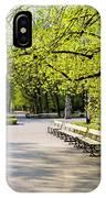 Saxon Garden In Warsaw IPhone Case