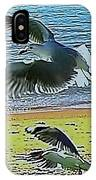 Sea Gulls In Flight  IPhone Case