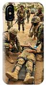 Seabees Conduct A Mass Casualty Drill IPhone Case