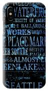Seattle Icons IPhone Case
