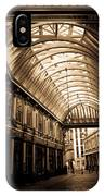 Sepia Toned Image Of Leadenhall Market London IPhone Case