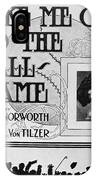 Sheet Music: Take Me Out IPhone Case