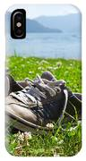 Shoes On The Green Grass IPhone Case