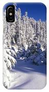 Snow-covered Pine Trees On Mount Hood IPhone Case