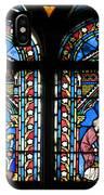 Stained Glass Window Of Notre Dame De Paris. France IPhone Case