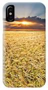 Sunset Wheat IPhone Case