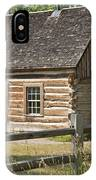 Teddy Roosevelt's Maltese Cross Log Cabin IPhone Case