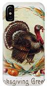 Thanksgiving Card, 1910 IPhone Case