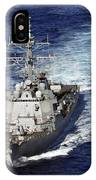 The Guided Missile Destroyer Uss Nitze IPhone Case