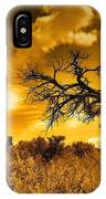 The Weight Of The Clouds In Sepia IPhone Case
