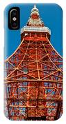 Tokyo Tower Faces Blue Sky IPhone Case