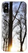 Trees With Sunlight IPhone Case