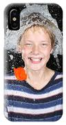 Water Balloon Popped Above Boys Head IPhone Case