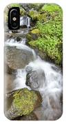 Water Cascading Over Rocks, Mount Hood IPhone Case