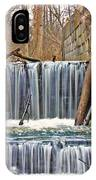 Waterfalls At Old Erie Canal Locks IPhone Case