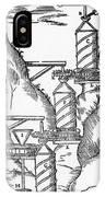 Watermill, Reversed Archimedean Screw IPhone Case