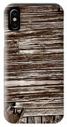 Weathered Wall In Bodie Ghost Town IPhone Case