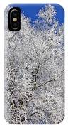 White Frost Tree  IPhone Case