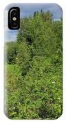 Wild Roses On Whitemud Creek IPhone Case