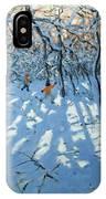 Winter Woodland Near Newhaven Derbyshire IPhone Case